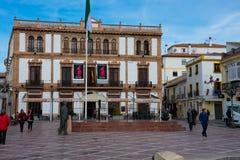 View of Socorro Square Plaza del Socorro. Ronda, Spain. January 19, 2018.  View of Socorro Square Plaza del Socorro Stock Images