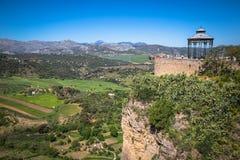 Ronda,Spain-3 May,2014:Ronda, Spain buildings on the Tajo Gorge. Stock Images