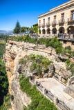 Ronda,Spain-3 May,2014:Ronda, Spain buildings on the Tajo Gorge. Stock Photo