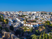 Ronda, Spain old town cityscape on the Tajo Gorge Stock Image