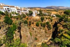Ronda, Spain old town cityscape on the Tajo Gorge Stock Photos