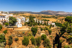 Ronda, Spain old town cityscape on the Tajo Gorge Royalty Free Stock Images