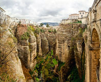 Ronda. Spain. Panoramic view of the old city of Ronda, the famous white village. Province of Malaga, Andalusia, Spain Stock Images