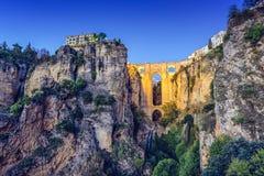 Ronda, Spain at Puento Nuevo Bridge Royalty Free Stock Photography