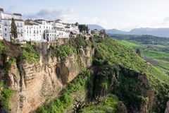 Ronda, Spain. A scenic view from Ronda Spain Stock Photography