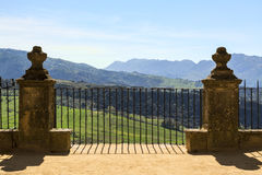 Ronda, Spain. Scenic View of Valley in Ronda, Spain Royalty Free Stock Photos