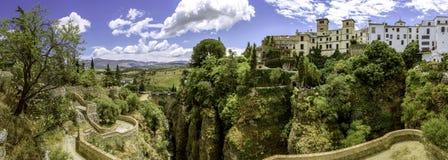 Ronda (Spanien) landskappanoramautsikt 008 Arkivfoto
