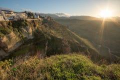 Ronda sunset, Malaga, Spain Royalty Free Stock Photo