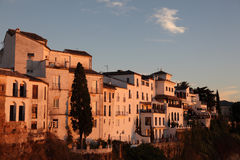 Ronda at sunset, Spain Stock Images
