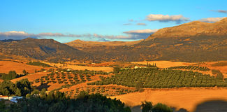 Ronda surroundings before sunset. Stock Photography