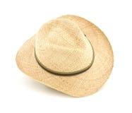 ronda szeroki kapeluszowy słomiany Zdjęcia Stock