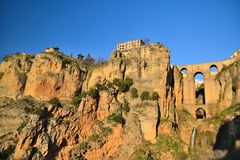 Ronda, town in the mountains Stock Photography
