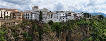 Ronda town in Spain on top of the cliff Stock Photography