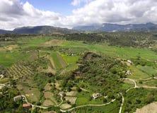 Ronda Valley and mountains. Malaga, Andalusia, Spain Stock Photos