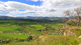 Ronda valley time lapse stock video footage