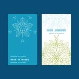 Ronda vertical de las mandalas abstractas de las plantas del vector Imagen de archivo libre de regalías