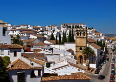 Ronda view. Traditional andalusian white village Ronda Royalty Free Stock Photography