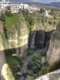 Ronda village perched on the rock panoramic view Stock Photo
