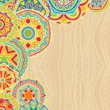 Rondas brillantes en el origen étnico ilustración del vector