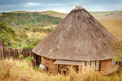 Rondavel, casa africana tradicional, África do Sul Fotos de Stock