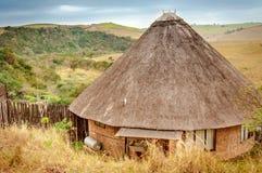 Rondavel traditionellt afrikanskt hus, Sydafrika Arkivfoton