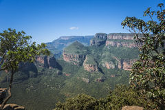 The rondavels in south africa Stock Photography