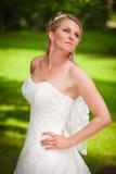 Rondborstig bruid aardig splijten Royalty-vrije Stock Fotografie
