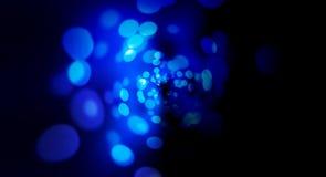 Ronde blauwe bokeh vage abstracte achtergrond vector illustratie