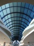 Ronde blauwe glasoverwelfde galerij Royalty-vrije Stock Foto