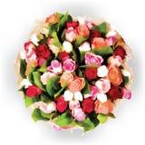 Ronde bloemen vectorsamenstelling Royalty-vrije Stock Fotografie