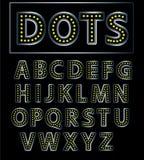 Ronde brieven met lichten Stock Foto's