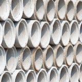 Ronde cementtunnel voor bouw Stock Afbeeldingen
