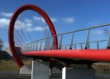 Ronde cirkel als fietsbrug Royalty-vrije Stock Foto