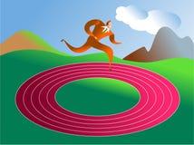 Ronde in cirkels stock illustratie