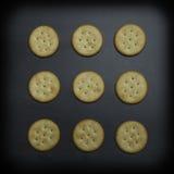 Ronde Crackers - Abstract Ontwerp Stock Afbeelding