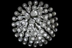 Ronde Crystal Bokeh Pattern Isolated On-Zwarte Royalty-vrije Stock Foto