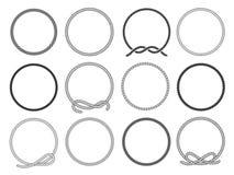 Ronde die kabelreeks, om patroon voor decoratie wordt verdraaid royalty-vrije illustratie