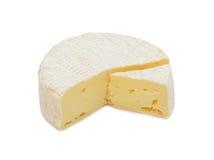 Ronde geïsoleerde Brie, stock foto