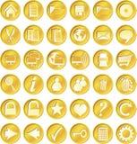 Ronde gouden knopen Stock Afbeelding