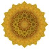 Ronde Gouden Veelhoekige Achtergrond vector illustratie