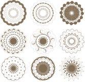 Ronde grafische geplaatste elementen Royalty-vrije Stock Fotografie