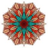 Ronde het kleuren mandala met abstract patroon Royalty-vrije Stock Foto's