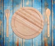 Ronde houten plaat royalty-vrije stock afbeelding