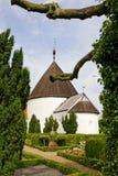 Ronde kerk Ols in Bornholms, Denemarken Stock Foto