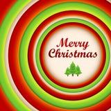 Ronde Kerstmisachtergrond en groetkaart. Stock Foto