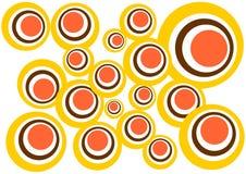 Ronde kleurenachtergrond Stock Illustratie