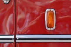 Ronde koplamp op de bus royalty-vrije stock afbeeldingen