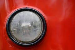 Ronde koplamp van oude tramclose-up royalty-vrije stock fotografie