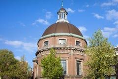 Ronde Lutheran Kerk in Amsterdam Royalty-vrije Stock Fotografie