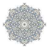 Ronde mandala caleidoscopische sierachtergrond Stock Afbeelding